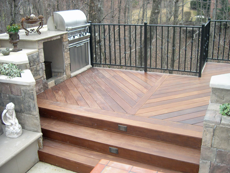 decking and outdoor kitchen