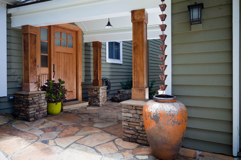 entry way and water feature