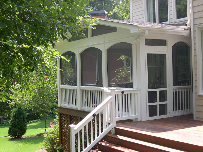 exterior of porch