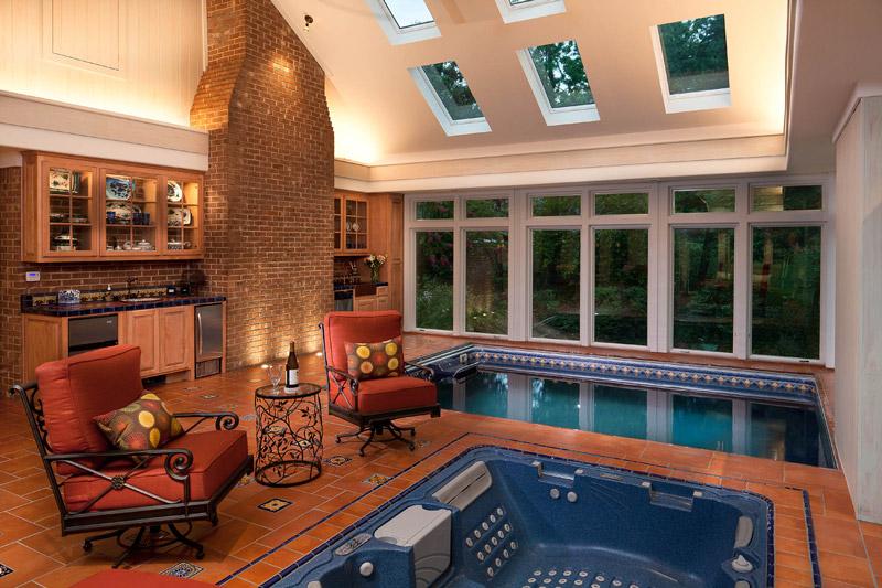 pool and spa sunroom
