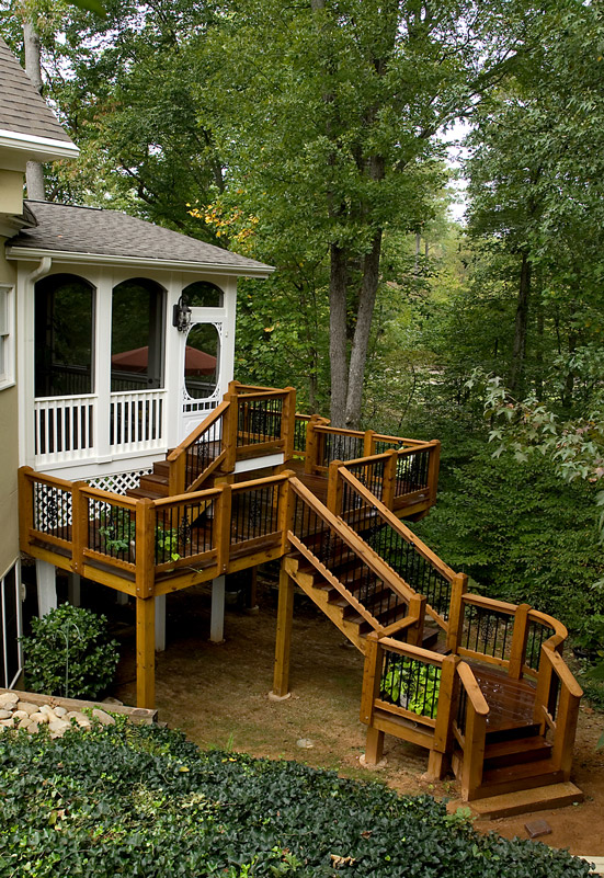 custom deck and stairs