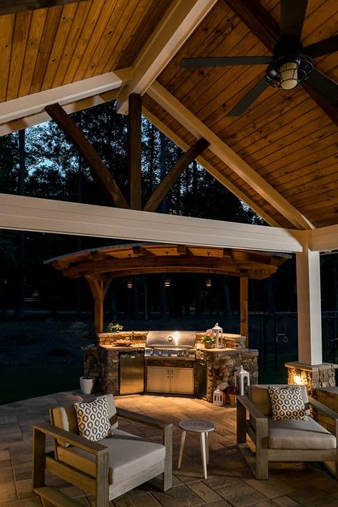 Patio with Outdoor Kitchen by Decks & More in Atlanta, GA